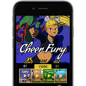Cheer Fury free cheerleading game for iOS and Android