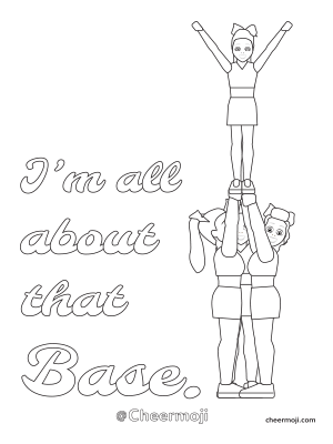 cheer coloring pages Cheerleading Coloring Pages by Cheermoji cheer coloring pages