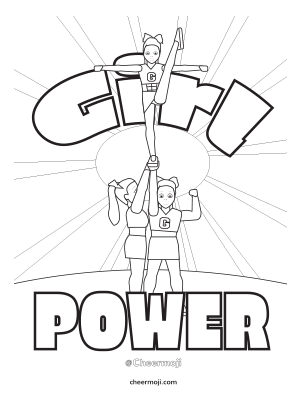 Cheerleading Coloring Pages by Cheermoji
